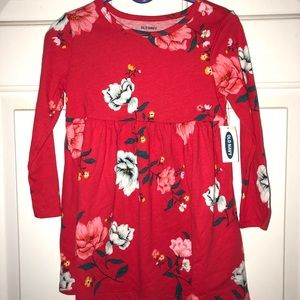 NWT Toddler Red Floral Dress